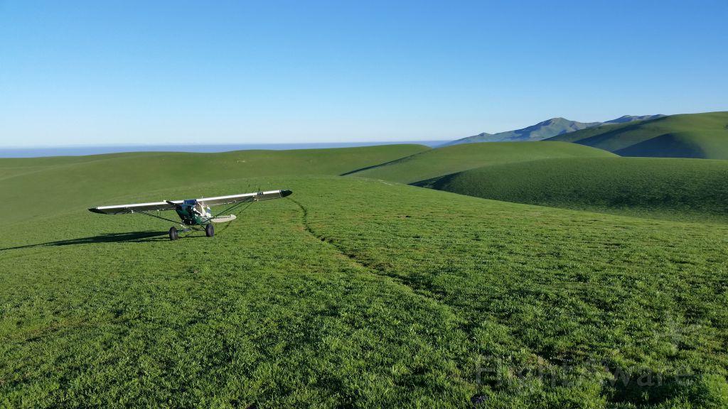 Piper L-21 Super Cub (N83516) - Beautiful February day in the California coastal range.
