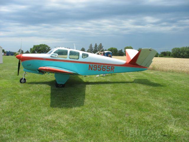 Beechcraft 35 Bonanza (N9565R) - At the MYZ fly-in.