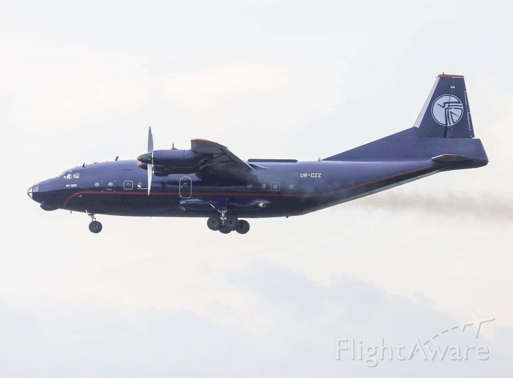 Antonov An-12 (UR-CZZ) - UKL4006 leaving Willow Run around 7:00 this evening to St. Johns, picking up some unknown cargo off. Went the full length of the runway. This is the first time the AN12 has visited Willow Run Airport.