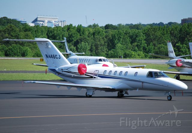 Cessna Citation CJ4 (N446CJ) - CESSNA AIRCRAFT CO here for the Coca-Cola 600 at KJQF - 5/26/13
