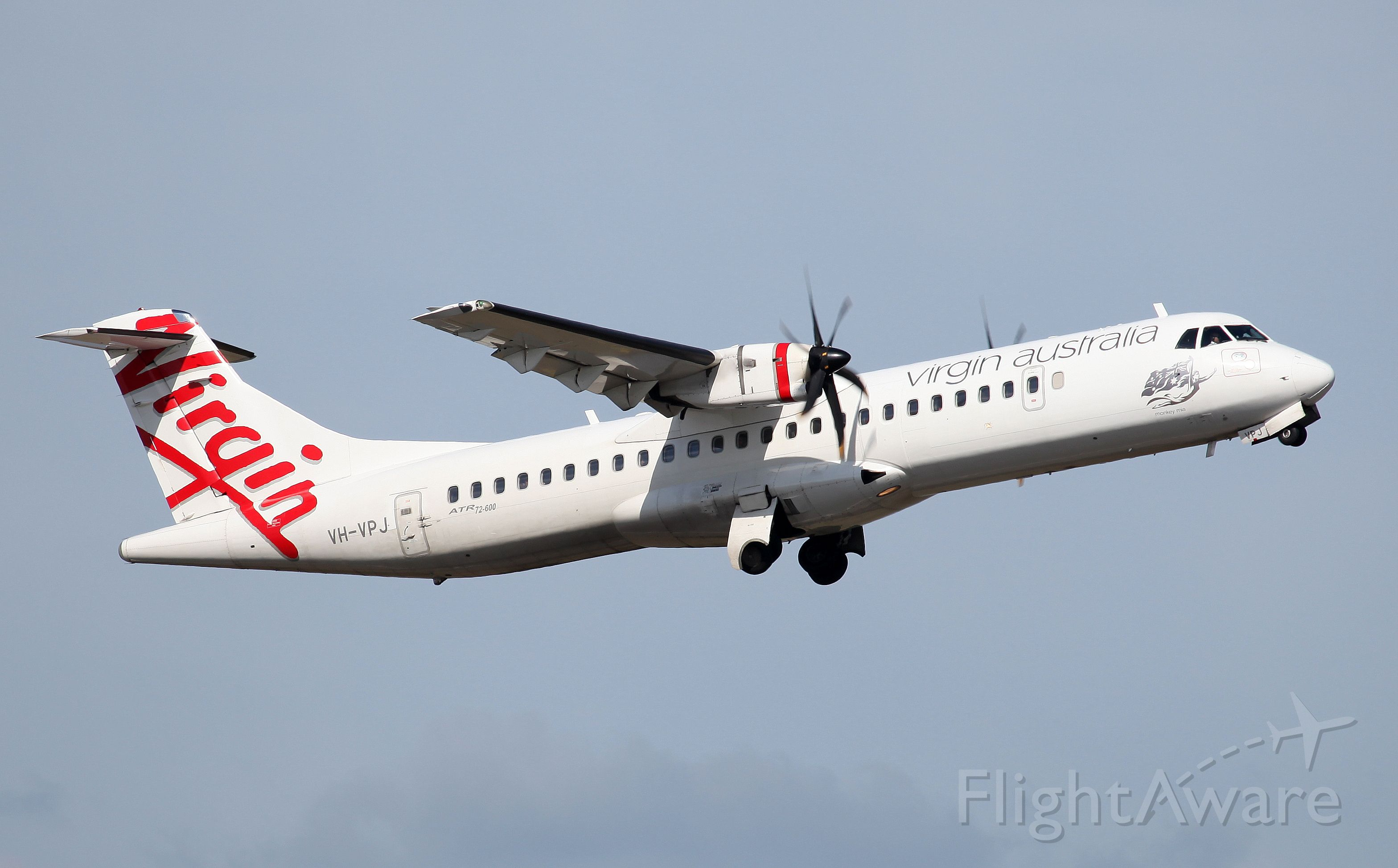 ATR ATR-72 (VH-VPJ) - Climbing from Rwy 34R
