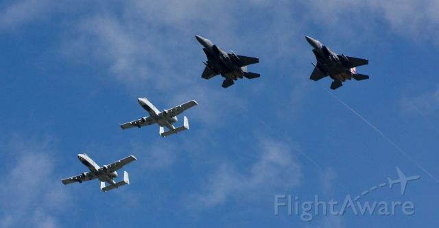 — — - The Idaho National Guard, in cooperation with the US Air Force, performed a flyover over certain parts of Idaho today. This is them over Idaho Falls.