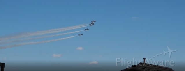 AALFTHUNDERBIRDS — - Salute to Health Care Professionals as they fly over the Summerlin Peds Hospital in Las Vegas.<br /><br />https://kxnt.radio.com/articles/press-release/thunderbirds-to-perform-special-vegas-flyover-saturday  <br /><br />It isn't every day I see a flock like this go by...when you look at the picture, just imagine the thunder from FIVE single-engined F-16s with their Pratt & Whitney F100-PW-200 afterburning turbofans running!<br /><br />Gene / KG7XD