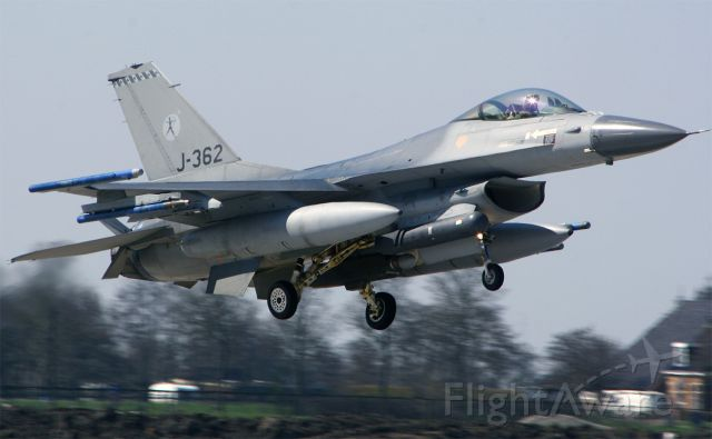 J362 — - Royal Netherlands AF F-16AM with registration J-362 is assigned to 323 sqn and was one of the host sqns of Frisian Flag 2010