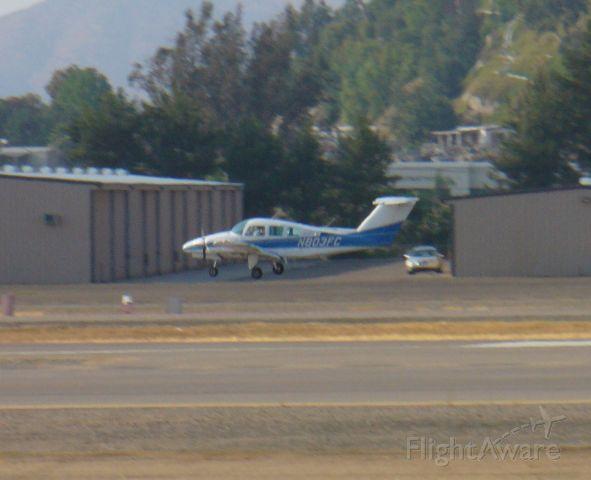 Beechcraft Duchess (N803FC) - Multi-engine trainer feeling for the flare on 27R