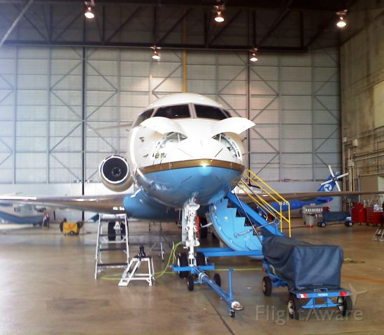 Bombardier Global 5000 (N47) - FAA Aircraft In Their William J. Hughes Technical Center Hanger