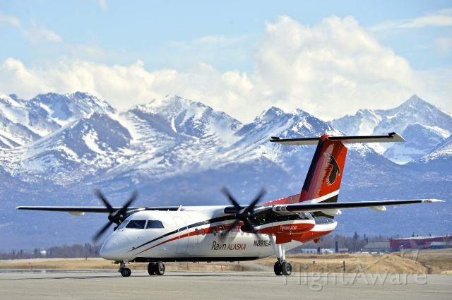 de Havilland Dash 8-100 (N891EA) - First repainted Dash 8 with new Ravn paint job.  Changed the name of Era Aviation to Corvus Airlines and rebranded to Ravn Alaska
