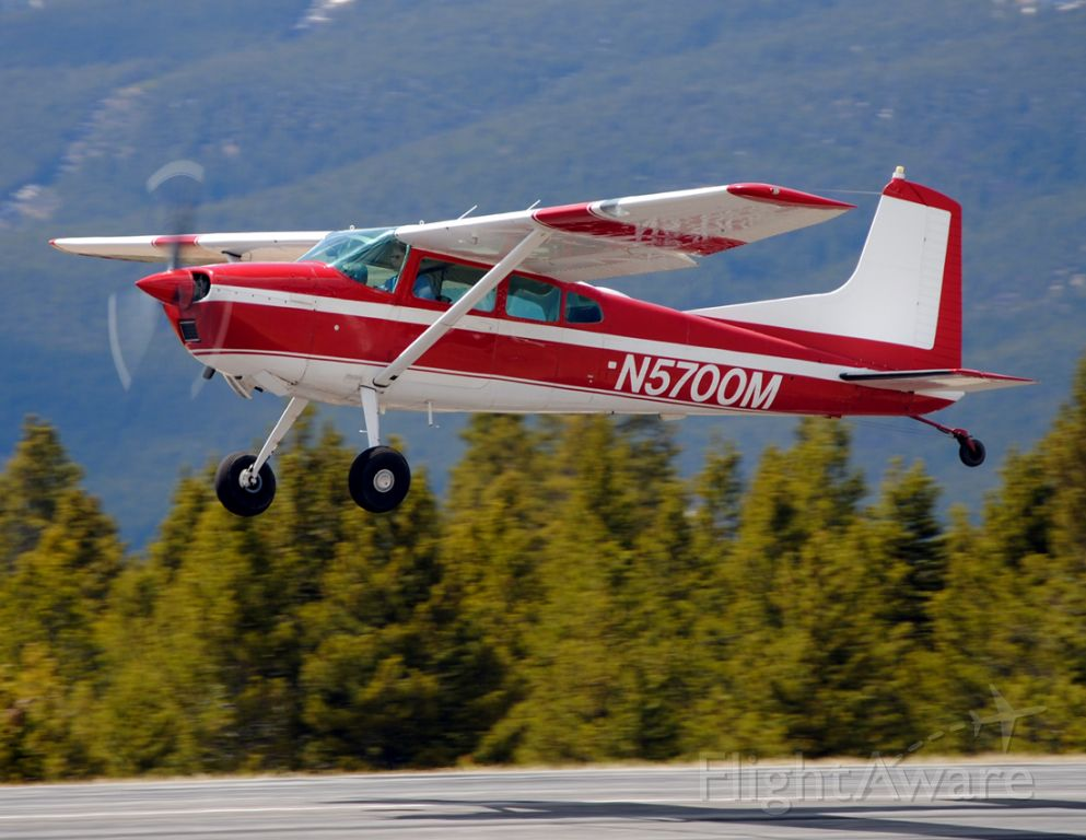 Cessna Skywagon (N5700M) - The Skywagon is one of the most frequent visitors to the Leadville-Lake County Airport, and is a workhorse throughout the Rocky Mountains.