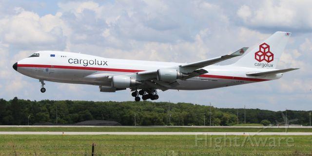 "Boeing 747-400 (LX-NCL) - A Cargolux Boeing 747-4ERF ""The City of Ettelbruck"" arriving 36R at carl T. Jones Field, Huntsville International Airport, AL - mid-afternoon, August 10, 2021."