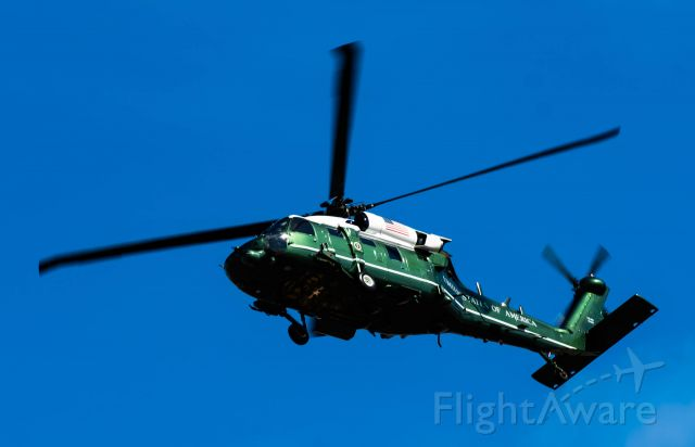 — — - Marine One departing North via Taxiway Bravo