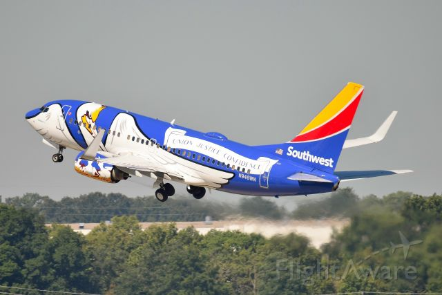 Boeing 737-700 (N946WN) - Shown departing 23-R on 08-20-20