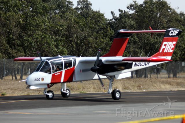 """North American Rockwell OV-10 Bronco (N403DF) - Forestry Aircraft called into service during the """"Wings Over Wine Country"""" Airshow   09-27-2015"""