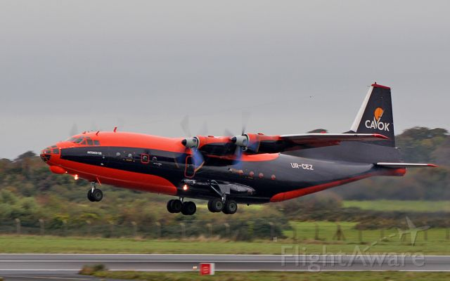 Antonov An-12 (UR-CEZ) - cavok air an-12b ur-cez dep shannon 26/9/18.