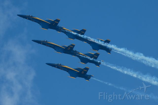 McDonnell Douglas FA-18 Hornet — - Blue Angels at Dayton Airshow 2010