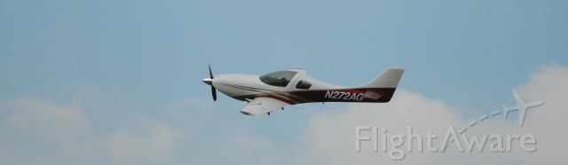 Lancair Legacy 2000 (N272AG) - Demonstration pass during Aviation Heritage Park 2012 Hangar Party.