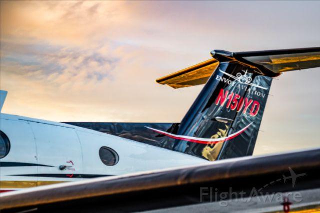 Beechcraft Super King Air 200 (N150YD) - Beautiful Sunset over the KMLB runway