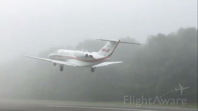 N20JK — - 2002 Cessna Citation CJ2 departing Mountain View in extreme IFR conditions