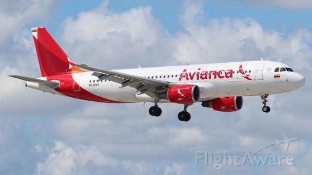 Airbus A320 (N538AV) - 06.10.2013 Landing at Fort Lauderdale International