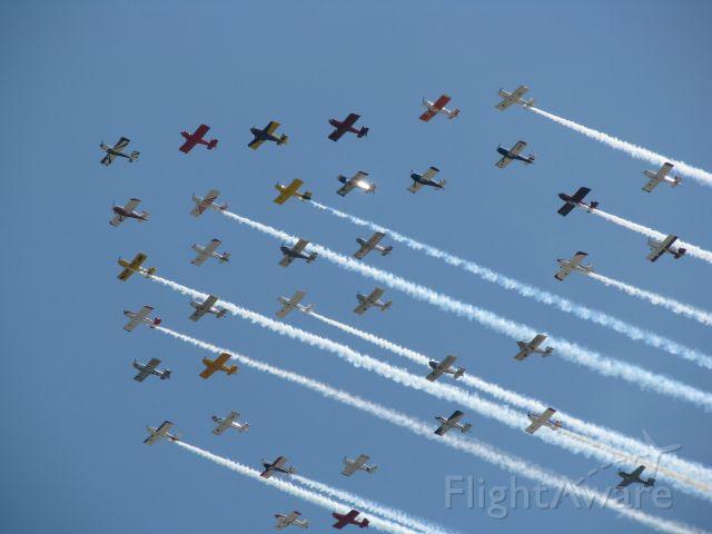 — — - RV formation at Oshkosh 2009