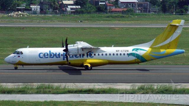 Aerospatiale ATR-72-600 (RP-C7291) - Cebu Pacific ATR72-600 RP-C7291 at Cebu Mactan Airport Philippines 21 Nov 2019