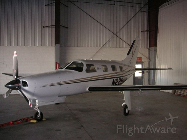 Piper Malibu Mirage (N229MM) - In the hanger @ Crow Executive