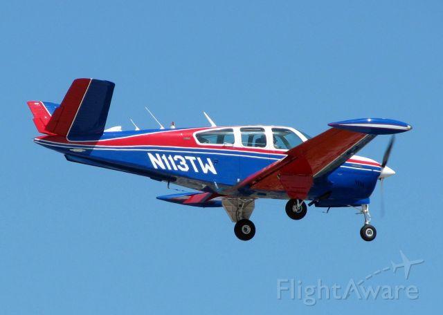 Beechcraft 35 Bonanza (N113TW) - Landing at Shreveport