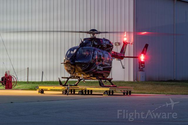 KAWASAKI EC-145 (N145WC) - UC Health's Air Care EC-145 preparing to depart Butler County.