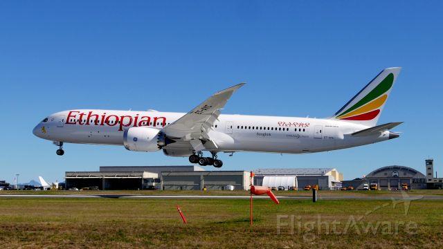 Boeing 787-9 Dreamliner (ET-AYC) - BOE106 on final to Rwy 34L to complete a flight test on 9.28.20. (ln 1005 / cn 65091).