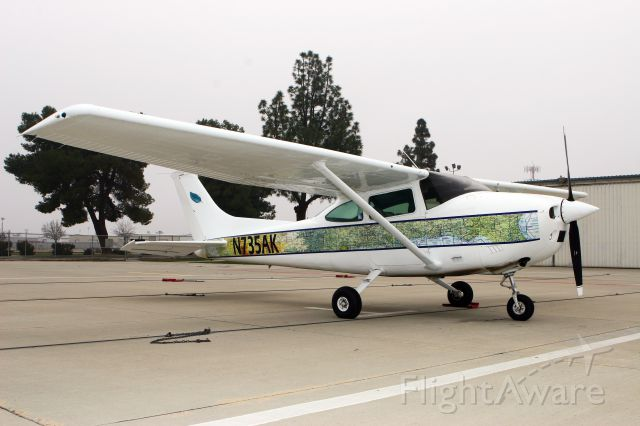 Cessna Skylane (N735AK) - Most planes have the moving map on the INSIDE of the aircraft. This plane IS the moving map!!
