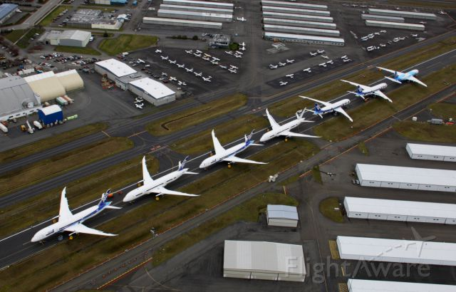 Boeing 787-8 (B-2725) - 787s stored at Paine Field February 26, 2013.