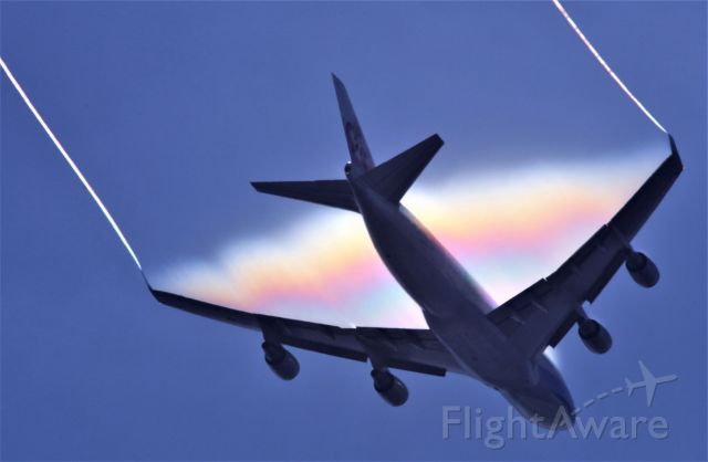 Boeing 747-400 (B-18725) - Just came out of a thick cloud!  7-17-2020