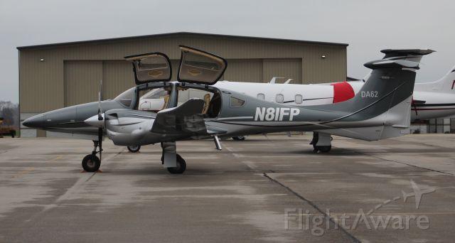Diamond DA-62 (N81FP) - A Diamond Aircraft DA 62 on the ramp under cloudy skies at Pryor Field Regional Airport, Decatur, AL - January 15, 2020.