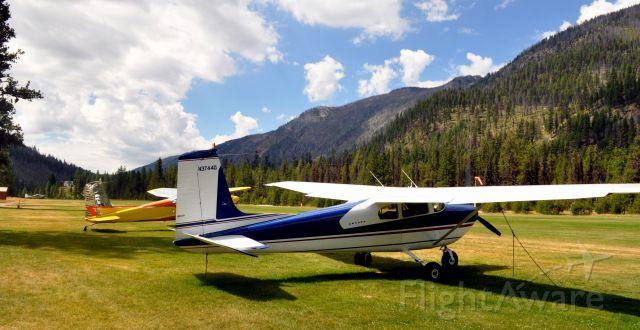 Cessna Skylane (N3744D) - Airplane Camping at Idahos Johnson Creek