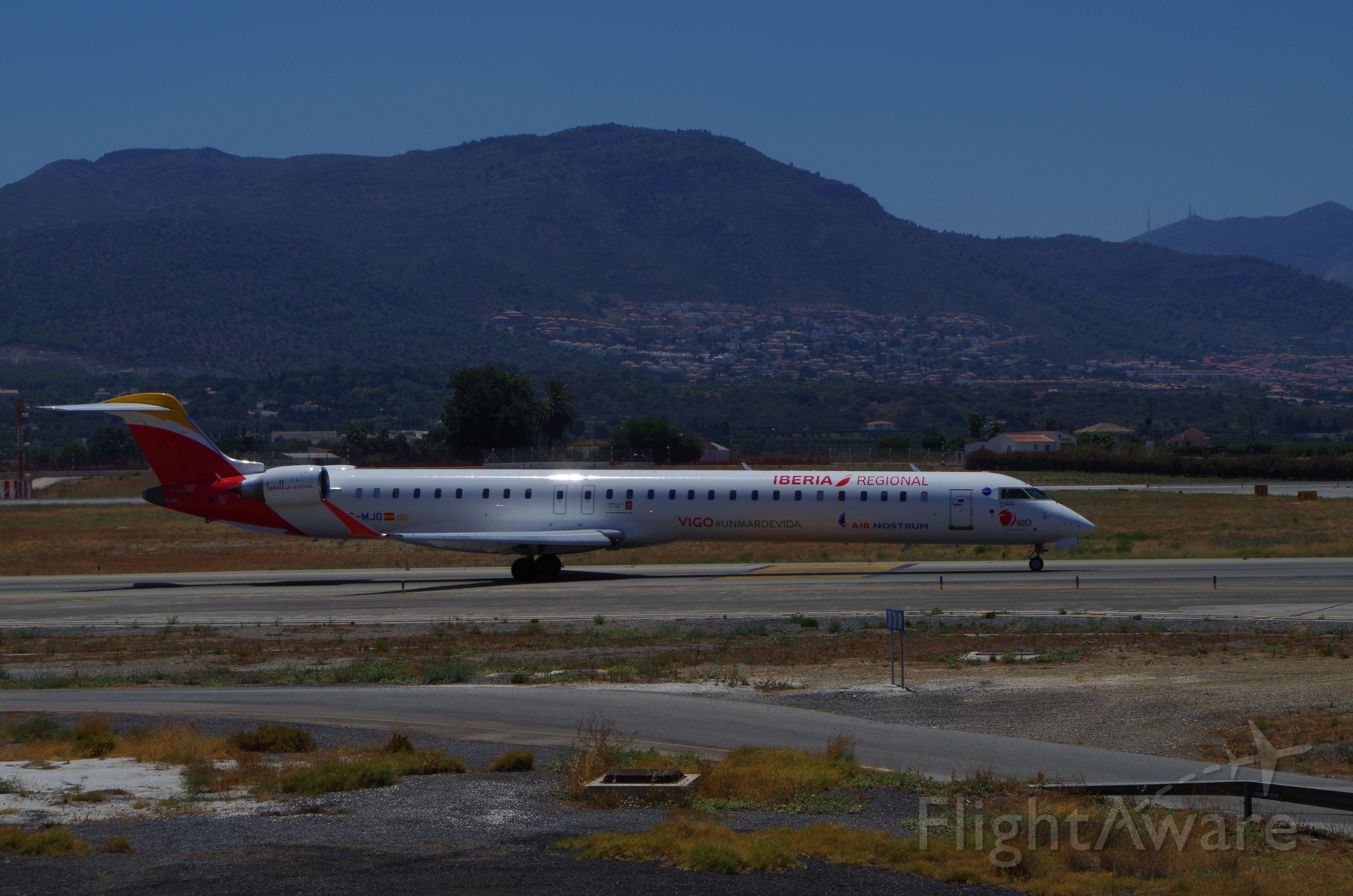 Bombardier CRJ-1000 (EC-MJO) - Taxing to takeoff at Malaga Airport, to Madrid Barajas