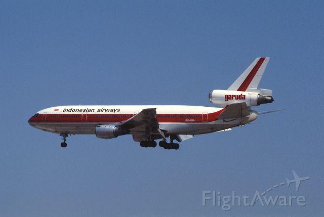 McDonnell Douglas DC-10 (PK-GIB) - Final Approach to Narita Intl Airport Rwy34 on 1986/03/21