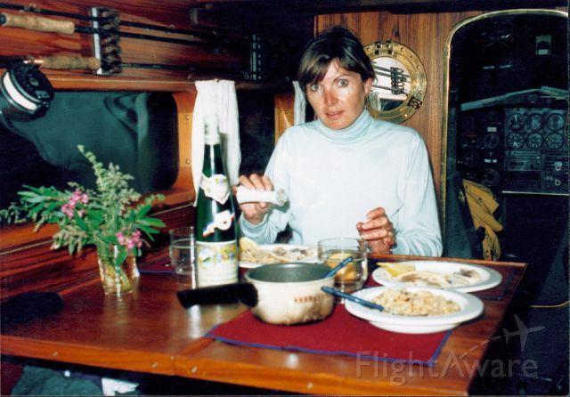 Grumman Goose (C-GYVG) - Goose C-GYVG dinner aboard Northern BC 1992
