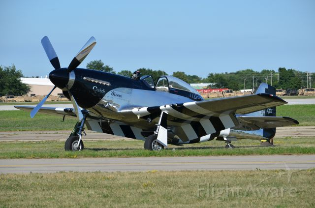 """North American P-51 Mustang (NL51HY) - EAA 2011 P-51D """"Quick Silver"""" taking a break after flying and looking absolutely gorgeous without even trying!"""