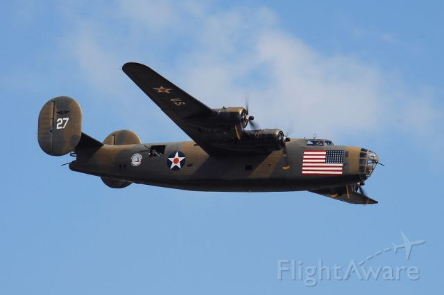 Consolidated B-24 Liberator (N24927) - Consolidated Vultee RLB30 (B-24A) of the Commemorative Air Force at Ellington Field, Texas October 2013.
