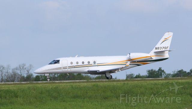 IAI Gulfstream G150 (N637SF) - This G150 with Kentucky Derby passengers departs KLEX runway 22 for KCAE Columbia, SC USA.