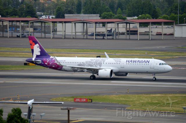 Airbus A321neo (N204HA) - HAL25 departing on 28L for Honolulu (PHNL/HNL).