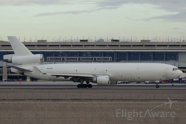 Boeing MD-11 (N543JN) - Western Global Airlines McDonnell-Douglas MD-11F N543JN at Phoenix Sky Harbor on December 20, 2015. It was manufactured in August 1994. Its construction number is 48543. It was delivered to EVA Air on September 13, 1994. Wells Fargo Bank registered it as N7821B on August 23, 2007. Shanghai Airlines registered it as B-2178 on August 29, 2007. China Cargo Airlines acquired it on June 1, 2011. Western Global Airlines leased it and registered it as N543JN before October 2014.