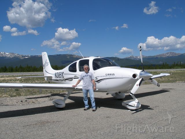 Cirrus SR-22 (N3851C) - On the ramp in Leadville, CO.  br /USA's highest airport - elevation 9,927.