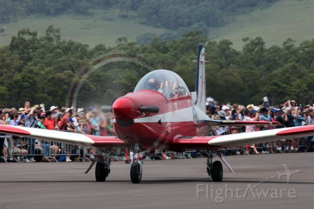 HAWKER DE HAVILLAND PC-9 — - One of the RAAF Roulettes taxing for depature from Wings Over The Illawarra 2010.