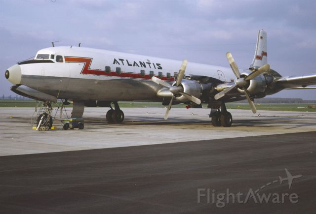 Douglas DC-7 (D-ABYF) - November 1968 at Düsseldorf (EDDL)