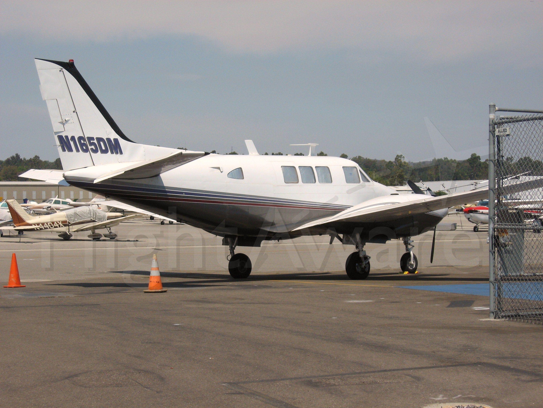 Beechcraft Queen Air (65) (N165DM) - Parked at Fullerton