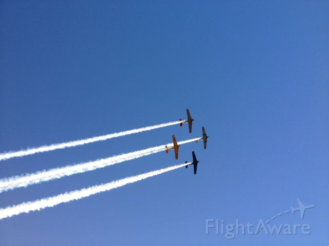North American T-6 Texan — - Flyover @ Mississippi State vs. South Alabama game.