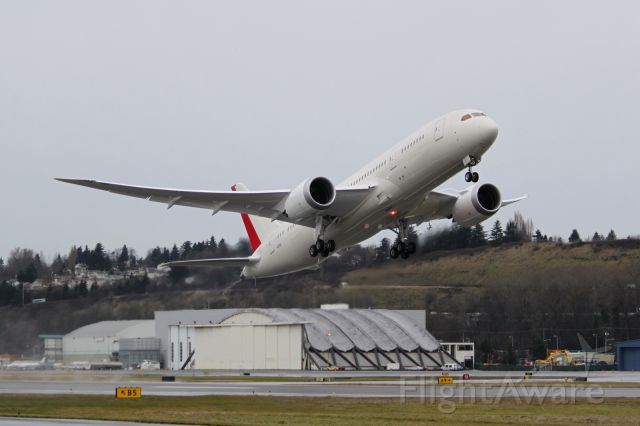 Boeing 787-8 (BOE236) - Seen lifting off on its historic 787 skywrite is BOE236 Heavy Experimental.