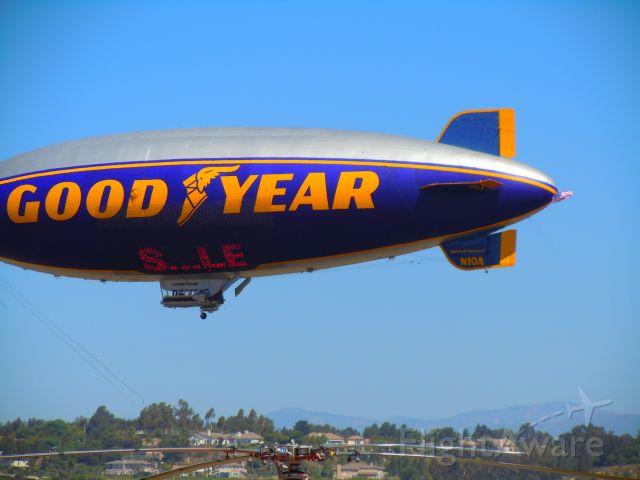 — — - Goodyear blimp - Low pass at Camarillo airport airshow 8/21/10