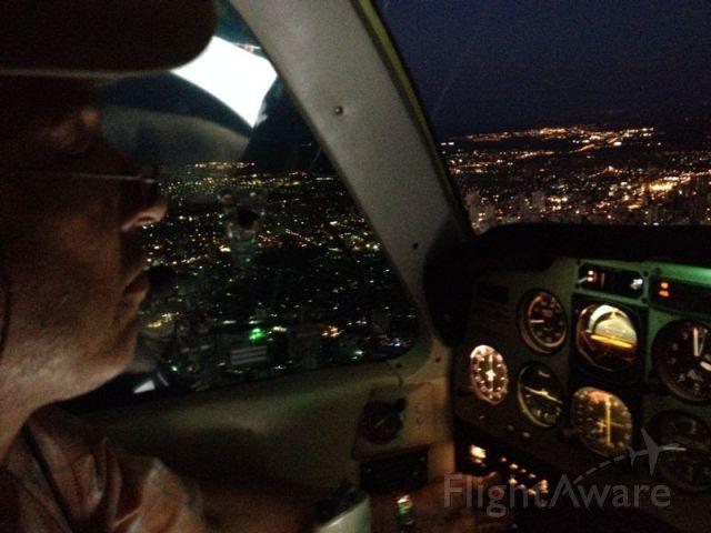 Beechcraft 35 Bonanza (PR-ODT) - Nocturnal approaching at SBCG