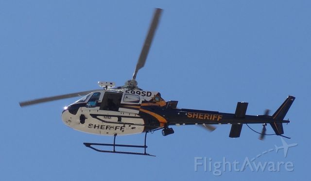 Eurocopter AS-350 AStar (N599SD) - Tucson Sheriff helicopter flying around my neighborhood on April 1, 2015.